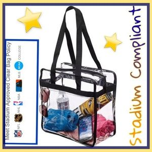 Handbags - BACK IN STOCK!!!!! Stadium Compliant Clear Bag